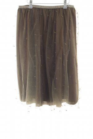 Zara Basic Falda de tul color bronce look efecto mojado