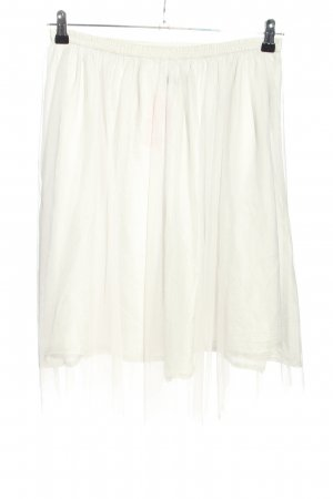 Zara Basic Tulle Skirt white casual look