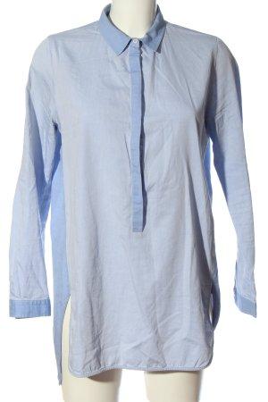 Zara Basic Tunikabluse blau Business-Look