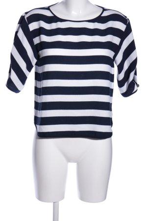 Zara Basic Tunikabluse blau-weiß Streifenmuster Casual-Look