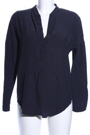 Zara Basic Tunikabluse schwarz Business-Look