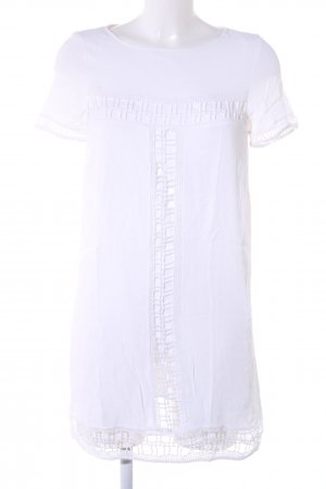 Zara Basic Tunikakleid weiß Business-Look