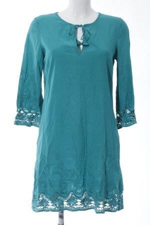 Zara Basic Tunikakleid türkis Casual-Look