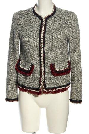 Zara Basic Tweed Blazer light grey-black flecked casual look