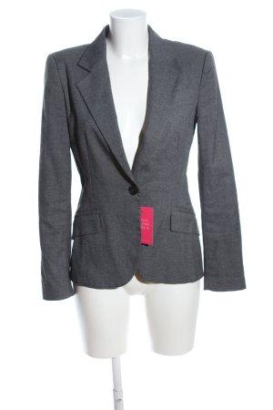 Zara Basic Tweed Blazer light grey weave pattern business style