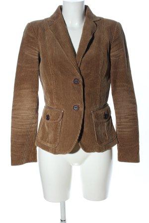 Zara Basic Blazer en tweed brun motif rayé style d'affaires