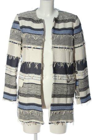 Zara Basic Tweedblazer Streifenmuster Casual-Look