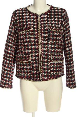 Zara Basic Blazer Tweed Patrón de tejido look casual