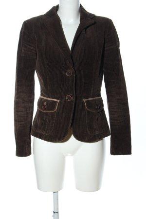 Zara Basic Blazer en tweed brun style décontracté