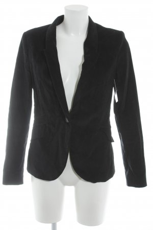 Zara Basic Tweedblazer schwarz Casual-Look