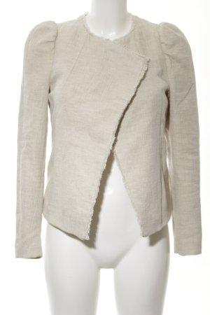 Zara Basic Tweedblazer wollweiß Casual-Look