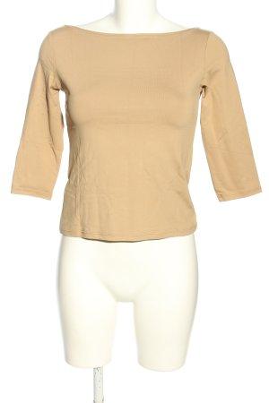 Zara Basic U-Boot-Shirt nude Casual-Look