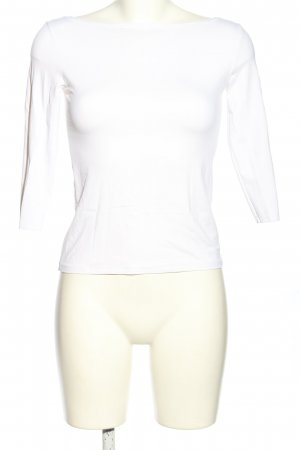 Zara Basic Boothalsshirt wit casual uitstraling
