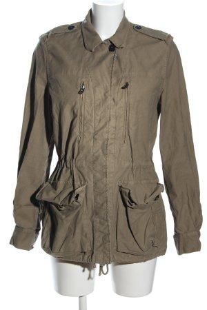Zara Basic Übergangsjacke khaki Business-Look