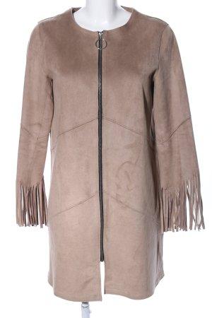Zara Basic Übergangsjacke braun-nude Casual-Look