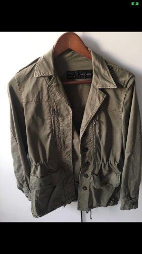 Zara Giacca militare cachi-grigio-verde