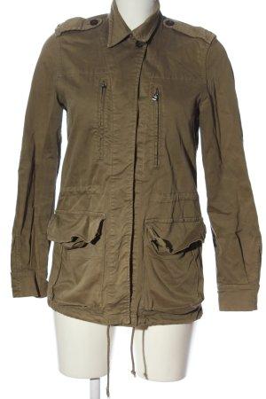 Zara Basic Übergangsjacke braun Casual-Look