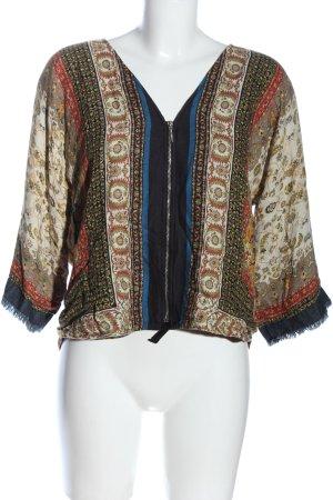 Zara Basic Chaqueta tipo blusa estampado repetido sobre toda la superficie