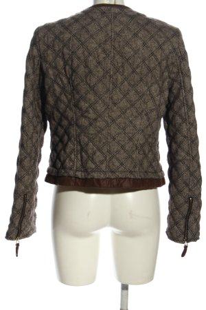 Zara Basic Übergangsjacke braun-schwarz Karomuster Casual-Look