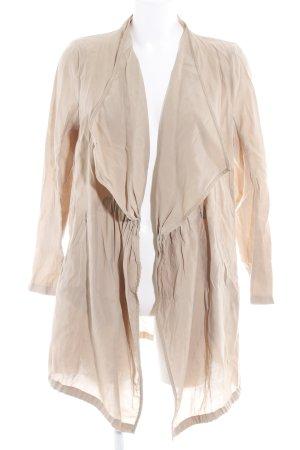 Zara Basic Übergangsjacke beige Casual-Look