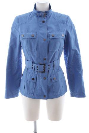 Zara Basic Kurtka przejściowa niebieski W stylu casual