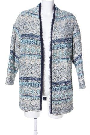 Zara Basic Kurtka przejściowa niebieski-w kolorze białej wełny W stylu casual