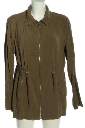 Zara Basic Übergangsjacke khaki Casual-Look