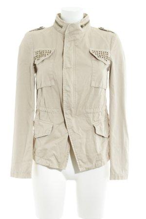Zara Basic Übergangsjacke creme Casual-Look