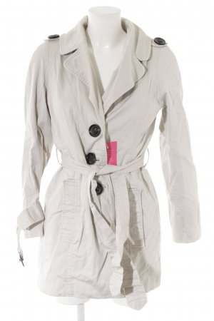 Zara Basic Übergangsjacke creme Safari-Look