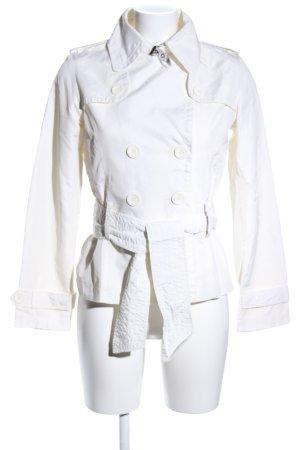 Zara Basic Übergangsjacke weiß Casual-Look