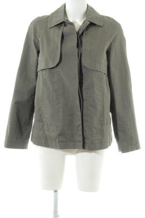 Zara Basic Übergangsjacke graubraun Casual-Look