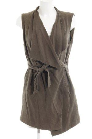 Zara Basic Übergangsjacke grüngrau Casual-Look