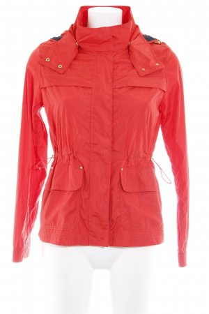 Zara Basic Übergangsjacke rot Casual-Look