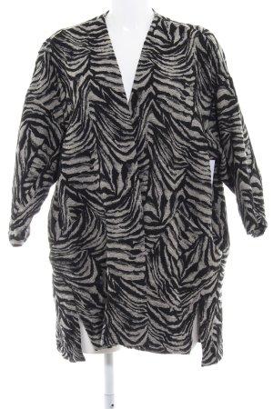 Zara Basic Kurtka przejściowa czarny-w kolorze białej wełny W stylu casual