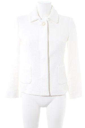 Zara Basic Kurtka przejściowa w kolorze białej wełny Siateczkowy wzór