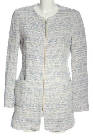 Zara Basic Übergangsmantel wollweiß-blau meliert Elegant