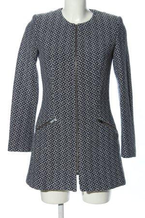 Zara Basic Übergangsmantel weiß-schwarz Casual-Look