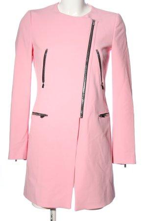 Zara Basic Übergangsmantel pink Casual-Look