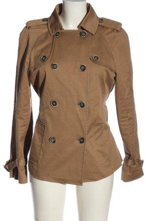 Zara Basic Between-Seasons-Coat brown business style