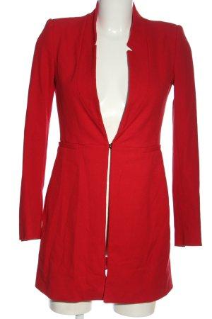 Zara Basic Übergangsmantel rot Business-Look