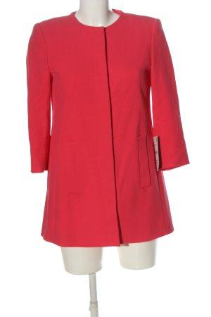 Zara Basic Übergangsmantel pink Business-Look
