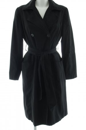 Zara Basic Übergangsmantel schwarz Casual-Look