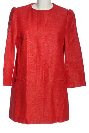 Zara Basic Übergangsmantel rot Elegant