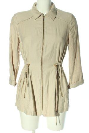 Zara Basic Übergangsmantel creme Casual-Look