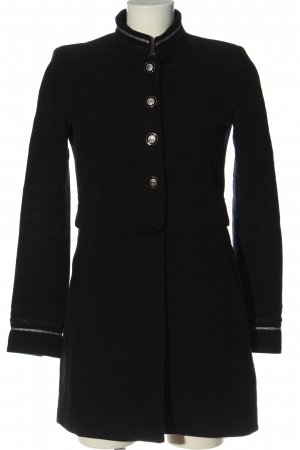 Zara Basic Übergangsmantel schwarz Elegant