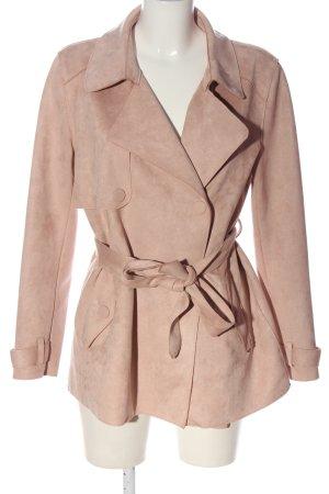 Zara Basic Übergangsmantel pink-creme meliert Casual-Look