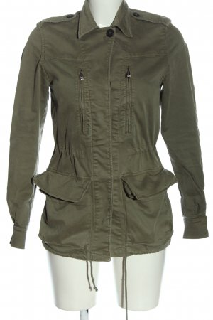 Zara Basic Übergangsmantel khaki Casual-Look