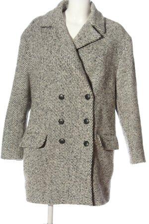 Zara Basic Übergangsmantel weiß-braun meliert Casual-Look