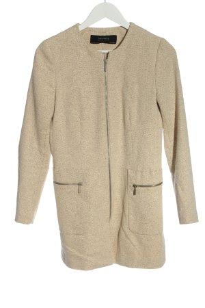 Zara Basic Übergangsmantel creme meliert Casual-Look