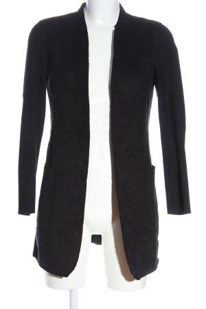 Zara Basic Übergangsmantel schwarz schlichter Stil